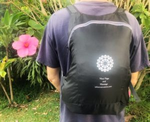 Maui Massage and Yoga Backpack
